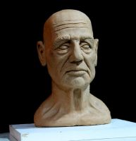 Old man Bust by Carleial