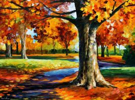 Bristol Fall by Leonid Afremov by Leonidafremov