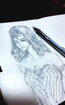 Wonder Woman sketch by MaidMei