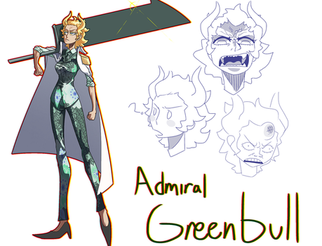 Admiral Greenbull by blacklessangel