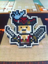 Cervantes cross stitch pin by fangy89