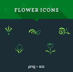 .: Flower Icons :. by DigitalConnection