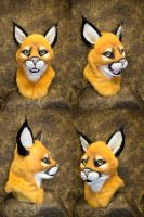 Caracal Cat Head by temperance