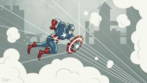 Captain America by dryponder