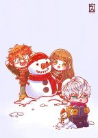Mystic Messenger: Snowball Fight by Soverrein