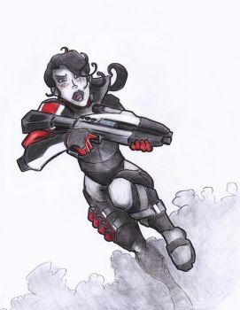 Just some N7 chick by AlexZebol