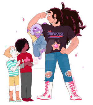 Steven and the Crystal Gemlings!