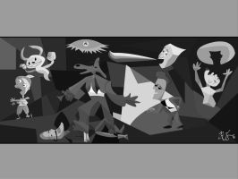 Sam and Max Guernica by dustysculptures