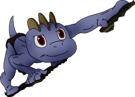 Machop as Young Tarzan (transparent background)