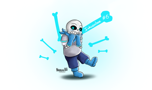 Inkcember 15 - Swap!Sans by Nabuco88