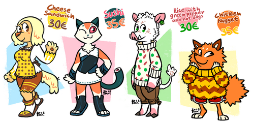 [CLOSED] FAVOURITE FOOD ADOPTS by neonUFO