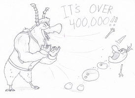 MU+Frozen: IT'S OVER 400,000! by Cartuneslover16