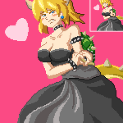 Bowsette pixel art by 8th-GradeF