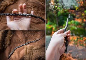 Crooked FORGED MAGIC WAND - for sale 1 by SilverclockCostumes