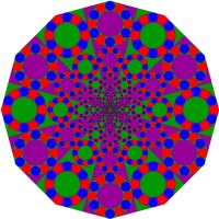 Shrinking tangent circles pattern by towerpower123