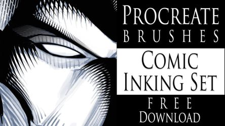 Procreate Brushes - Comic Inking Set - Download by robertmarzullo