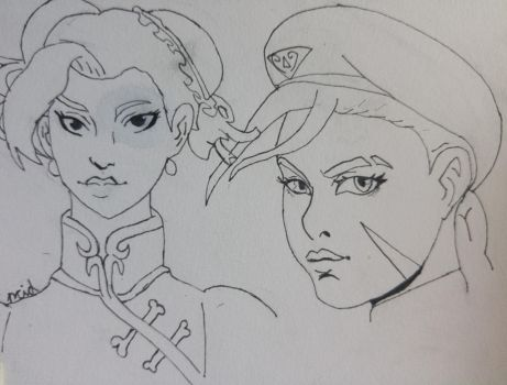 some street fighters sketches by Ncid