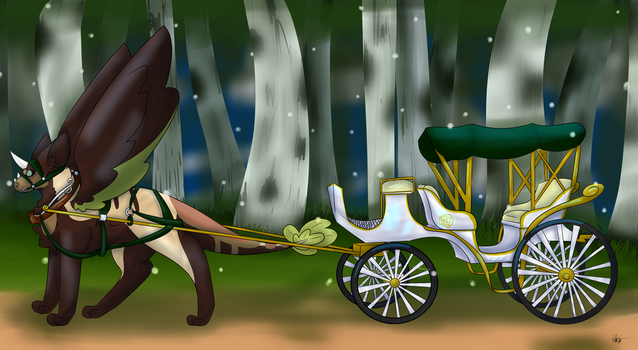 Evening Ride by AstroTheUnicorn