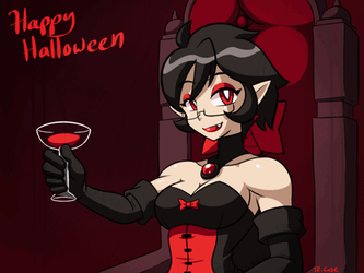 Vampire Violet Happy Halloween by rongs1234