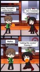 Soulmourn give Ruby a Cookie by MegaAli