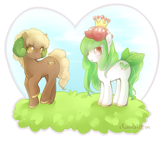 my little whimsicott, my little lilligant