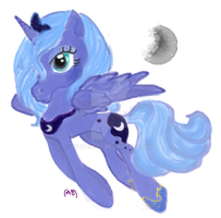 fanart:MLP Luna NOT MY CHARACTER by WhiteLedy
