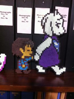 Walking with Toriel (Perler Beads) by PieMan24601