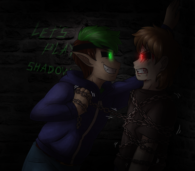 .: Let's play a little, Shadow-boy? :. by AquaGD