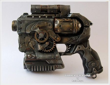 Steampunk Ray gun 3 by Diarment