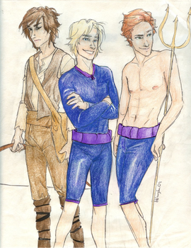 the Men of Hunger Games by burdge