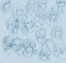head-sketches by doven