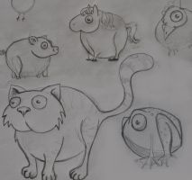 sketches round_pets1 by Trutze