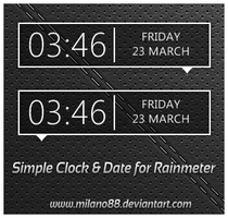 Simple Clock and Date by milano88