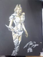 Witchblade paint pen sketch by MarOmega