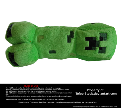 Minecraft Creeper Toy Stock2 by Tefee-Stock