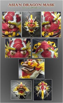 Asian Dragon Mask by windinmysails
