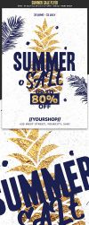 Summer Sales Flyer Template by Hotpindesigns
