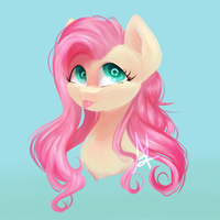 Fluttershy Doodle by TheFluffyVixen