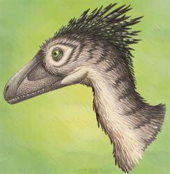 Deinonychus Portrait by EWilloughby