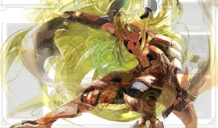 Incadecent Lion, Blond Ezel Playmat by ItachiUchiha602