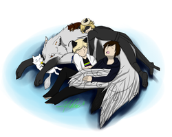 Cuddle Pile UPDATE: With Chat by LifeisDone