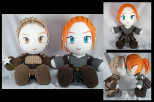 Alistair + Warden plushies by eitanya