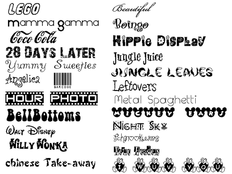 My New Fonts by Grey-faerie-girl