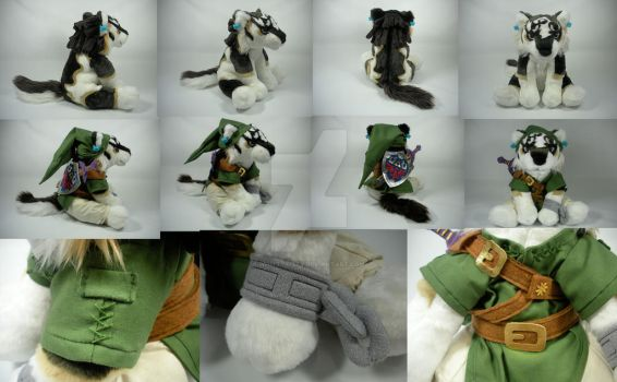 Wolf Link Plush by WhittyKitty