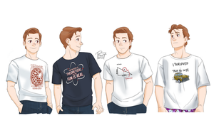 Peter Parker's Shirt Appreciation by pencilHead7
