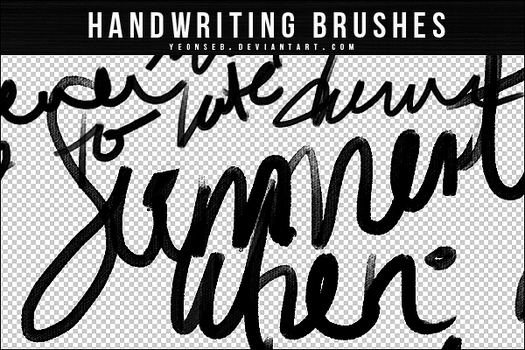 HANDWRITING BRUSHES by Yeonseb