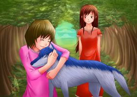 Ookami Kodomo no Ame to Yuki by JeffriArt