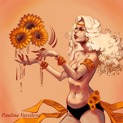 SunflowerLady by pauscorpi