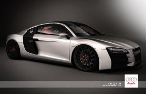 custom audi R8 by 3dmanipulasi
