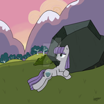 MLP: A relaxing afternoon with a stone by Elmer157Typhlosion
